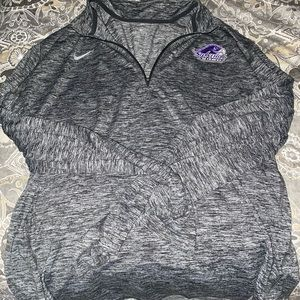 Stonehill college Nike dry fit quarter zip